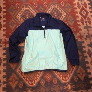 Adidas golfing half zip lightweight pullover large